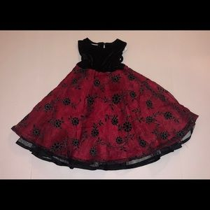 3 for $10 Blueberi boulevard Red & Black Dress 2T